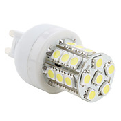 G9 3.5W 27x5050 SMD 300LM 5500-6500K Natural White Light LED Corn Bulb (230V)