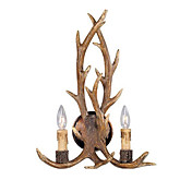 Antlers Style Wall Light with 2 Lights