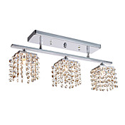 3 - Light Crystal Semi Flush Mount with 4 Colors Available