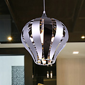 RVS hanglamp met 1 licht