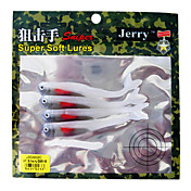 Soft Bait Fish 90MM 4G Sinking Plastic Fishing Lure (4 pcs/Color Assorted)