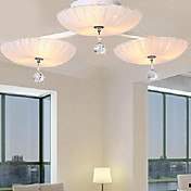 Crystal Ceiling Light with 9 Lights in 3 Shade
