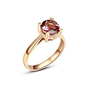 luxe klassieke dames-granaat ring (meer materiaal)