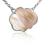 Luxurious Cloud Design Pearl Shell Silver Necklace