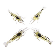 blde agn noctilucent rejer 40mm 5g silicium Fishing Lure packs (4 stk)