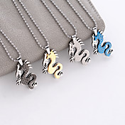 Stainless Steel Dragon Design Necklace (More Colors)