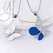 Stainless Steel Flying Butterfly Necklace (More Colors)