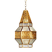 High-Grade Pendant Light with 3 Lights in Glass Shade