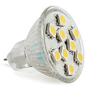 MR11 5050 SMD 9-lmpada LED branco quente 90-120lm (12v, 1.5-2w)