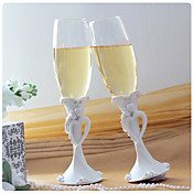 Bride and Groom Wedding Toasting Flutes
