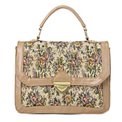 Flower Pattern Tote &Shoulder Bag