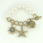Multi-element Design Ladies' Imitation Pearl Bracelet