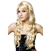 Lace Front Long High Quality Synthetic Wavy Blonde Hair Wig