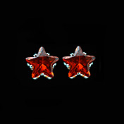 10MM Beautiful Cubic Zirconia Earrings In Star Shape With Sunshine Color (More Colors)