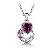 Austrian Crystal With Real Platinum Plated Anti-Allergy Ladies Necklace Autumn Florid (More Colors)