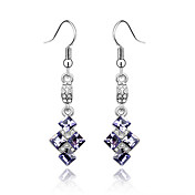 Sweet Box Austrian Crystal In Real Platinum Plated Ladies' Earrings (More Colors)