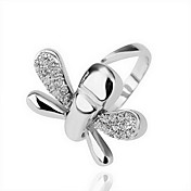 Gorgeous Rhinestone 18K Gold Dragonfly Fashion Ring