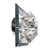 Modern Crystal Wall Light with 1 Light Electroplate Finished