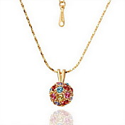 18K Gorgeous Fashion Rhinestone Alloy Ball Necklace (More Colors)