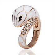 Gorgeous Cubic Zirconia 18K Gold Plated Snake Fashion Ring (More Colors)