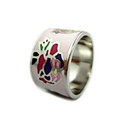 Unisex Silver Brass Enamel Rings (13mm)