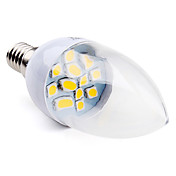 E14 SMD 5050 12LED 70-100LM 2-2.5W Warm White 2800-3300K Candle Bulbs (220-240V)