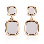 18K Gold Plated Unique White Onyx Fashion Earrings