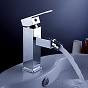 Robinet de bidet contemporaine en laiton - fini chrome