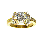 Marvelous Round CZ Cubic Zirconia Finger Ring(More Colors)