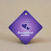 gepersonaliseerde ruit gunst tag - Purple Hearts (set van 30)