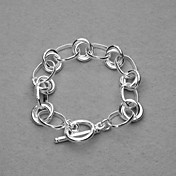 Amazing Silver Plated Grain Circle Unisex Bracelet