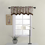 Casual Floral Tailored Valance