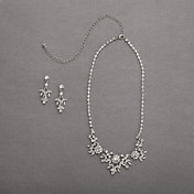 Gorgeous Alloy With Rhinestones Wedding Jewelry Set,Including Necklace And Earrings