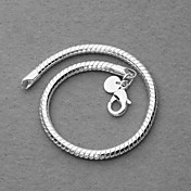 Beautiful Silver Plated 4mm Snake Chain Unisex Bracelet