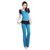 SiBoEn Polyester Short Sleeve Tracksuits Practise Wearable Yoga with Ruffles