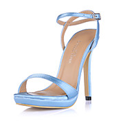 Silk Stiletto Heel Sandals Platform Wedding Shoes(More Colors)