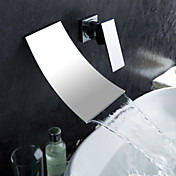 Robinet lavabo contemporain  effet cascade (finition chrome)