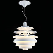 60W Comtemporary Aluminum Pendant Light in White