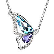 Fashion Alloy With Austrian Crystal Butterfly Women's Necklace (More Colors)