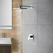 Chrome Wall Mount Rain Single Handle Shower Faucet(0758-HM-6109)