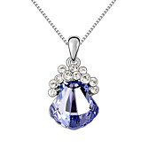 Austrian Crystal With Real Platinum Plated Anti-Allergy Women's Pendant (More Colors)