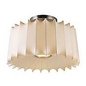Comtemporary 3 - Light Flush Mount Lights with Fibre Shade