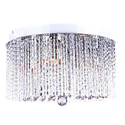 Comtemporary Crystal Flush Mount Lights with 3 Lights Beads Design