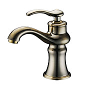 Antique Single Handle Bathroom Sink Faucet(Antique Bronze Finish)