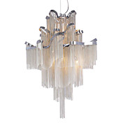 Luxuriant Aluminum Chandeliers with 6 Lights in G9 Bulb Base