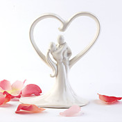 Elfenbein sen Umarmung wedding cake topper
