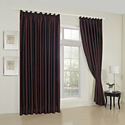 (Two Panels) Sincere Embossed Blackout Thermal Curtains