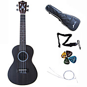 Hanknn - Rosewood Concert Ukulele with Gig Bag/String/Picks/Strap