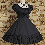 Kortrmet Knlang Pure Color Cotton Classic Lolita Dress