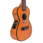 ELLA - (UK-44CE) Concierto Mahogany Acoustic-Electric Ukulele con bolsa